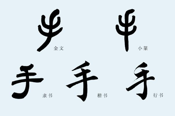 手字的象形字图片